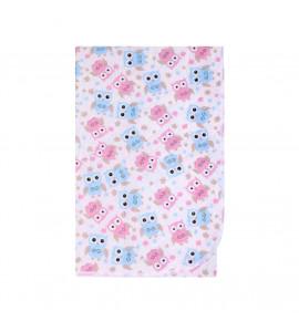 AKUKU Prebaľovacia podložka Akuku 55x70 sovy ružovo-modré