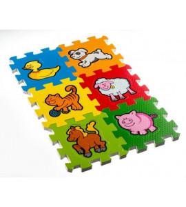 Teddies Penové puzzle Moje prvé zvieratká 15x15x1,2cm 6ks MPZ