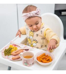 BabyOno bambusová sada detského riadu Sovička 5 dielna