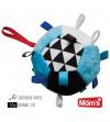 Hencz Toys Farebná plyšová lopta modrá