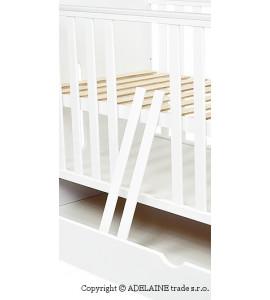 Baby Nellys Drevená postieľka EXCLUSIVE STAR 2 v 1, 120 x 60 cm - biela