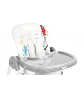 CARETERO Detská jedálenská stolička LUNA GREY