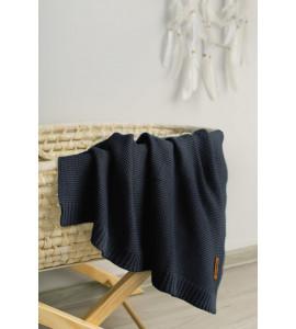 Sensillo Detská deka bambusovo-bavlnená 80x100 cm Tmavomodrá