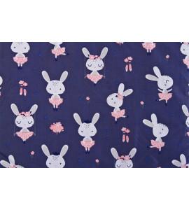 Sensillo Obojstranná zavinovačka MINKY 80x80 králiky/ružová