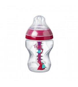 TOMMEE TIPPEE Dojčenská fľaša C2N ANTI-COLIC Girl 260ml 0m+