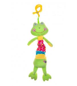 AKUKU Plyšová hračka s melódiu a klipom - žirafka