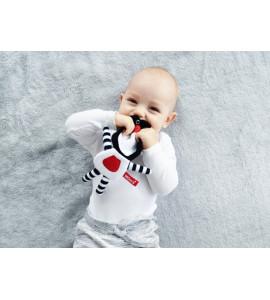 Hencz Toys Edukačná hračka Méďa šustík - tyrkysový