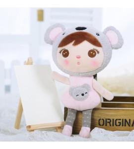 METOO Mini handrová bábika Metoo s klipom medvedík Koala, 22 cm