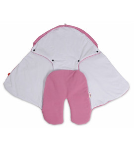 Baby Nellys® Detská zavinovačka, fusak polar / bio bavlna - smotana