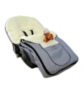 Baby Nellys® Multifunkčný fusak Vlna 4v1 Baby Nellys ® - hnedý