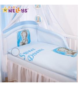 Baby Nellys® Mantinel s obliečkami Sweet Dreams by Teddy - modrý