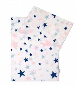 Baby Nellys® 3-dielna sada mantinel s obliečkami Hviezdy a hviezdičky
