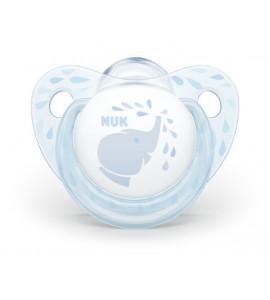 NUK 736207 cumlík 6-18m BABY BLUE SILIKON 2ks*
