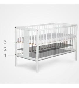KLUPS Postieľka detská NEL - Obláčik 120x60 cm biela