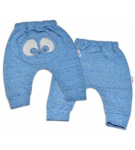 Baby Nellys ® Tepláková súprava Baby Nellys - MEDVEDÍK - modrý melír, veľ. 86