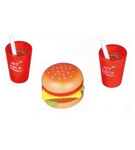 Lelin Drevená hračka - Fast food sada