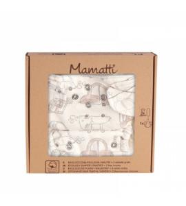 Mamatti Látková plienka EKO sada - nohavičky + 2 x plienka, veľ. 5 - 14 kg, Car
