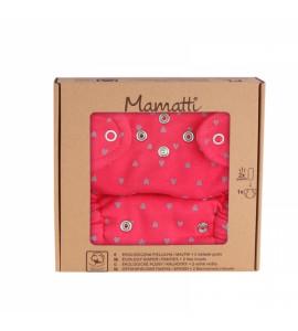 Mamatti Látková plienka EKO sada - nohavičky + 2 x plienka, veľ. 5 - 14 kg, Hearts