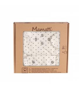 Mamatti Látková plienka EKO sada - nohavičky + 2 x plienka, veľ. 5 - 14 kg, Dots