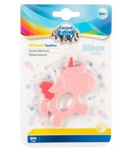 CANPOL BABIES - Silikónové hryzátko Dino, ružový