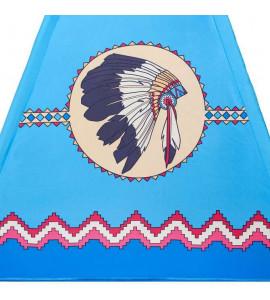 PlayTo Detský indiánsky stan teepee PlayTo modrý