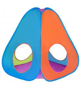 PlayTo Detský stan PlayTo 3v1 oranžovo-modrý