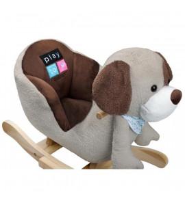 PlayTo Hojdacia hračka s melódiou PlayTo psík sivo-hnedý