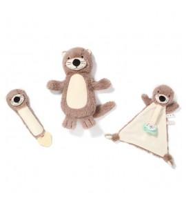 BabyOno Plyšová pískací hračka Otter Maggie Vydra, béžovo-hnedá