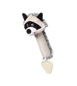 BabyOno Plyšová pískací hračka Racoon Rocky Mýval, černo-biely