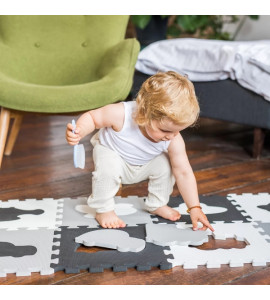 BabyOno Penové puzzle - Dopravné prostriedky- 10 ks