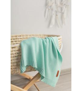 Sensillo Detská deka bambusovo-bavlnená 80x100 cm Mint