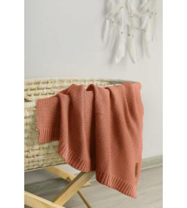 Sensillo Detská deka bambusovo-bavlnená 80x100 cm Koralová