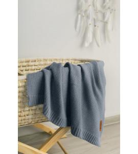 Sensillo Detská deka bambusovo-bavlnená 80x100 cm Jeansová farba