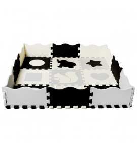 TULIMI Detské penové puzzle 115x115cm, hracia deka, podložka na zem XXL - zvieratká