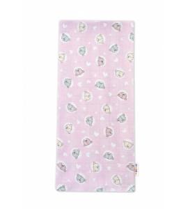 Baby Nellys Kvalitná bavlnená plienka - Tetra Premium, 70x80cm - Medvedík, ružová