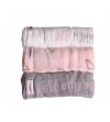 Minene mušelínové plienky, sada 3 ks - biela, ružová, sivá